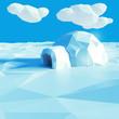 Iglu in der Eiswüste - 77943792