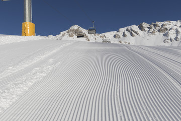 Desert ski slope in winter time