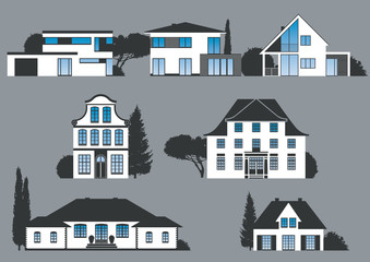 Icons verschiedener Häuser