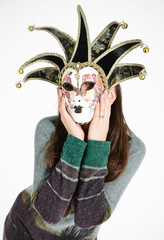 Venetian mask with woman face