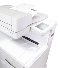 Office Copy machine in White background