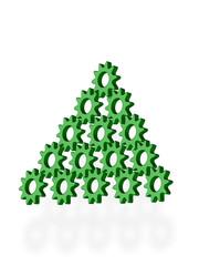 Шестерни зеленого цвета