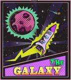 Galaxy pop art poster
