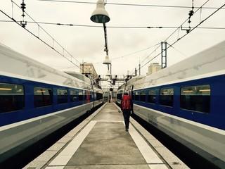 Départ en train