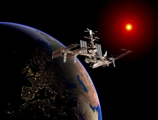 Satellite Earth Space Station