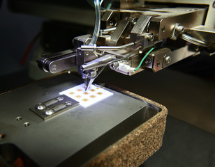 The microscope is used to control chip