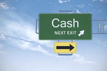 Cash Highway Exit Sign Concept