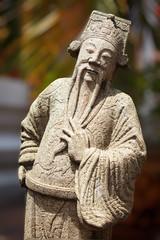 Wat Pho stone guardian statue, Thailand