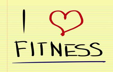 I Love Fitness Concept