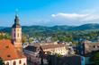 Stadtpanorama mit Stiftskirche, Baden-Baden, Schwarzwald, Baden- - 77947712