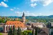 Stadtpanorama mit Stiftskirche, Baden-Baden, Schwarzwald, Baden- - 77947741