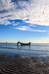Sunlight morning beach