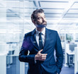 canvas print picture - businessman in the office