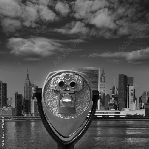 Foto op Aluminium New York Manhattan New York sunny skyline East River NYC