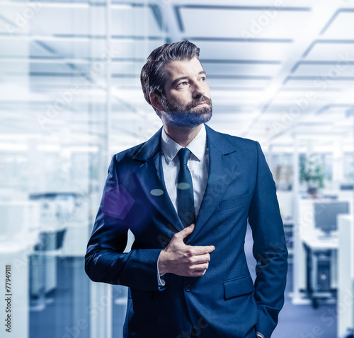 canvas print picture businessman in the office