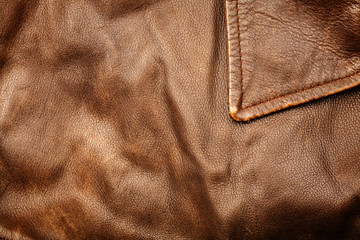 Crumpled leather background