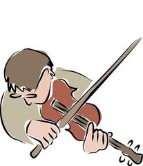 arty violinist
