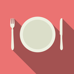 Flat Dinner Plate Design