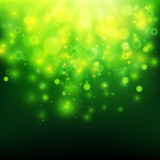 Fototapety Green bokeh light background