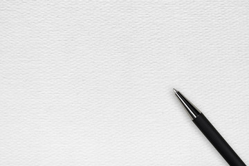Black ball pen on the white papper background