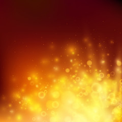 Abstract fire bokeh. Vector background