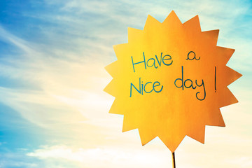 greeting for a nice sunny day