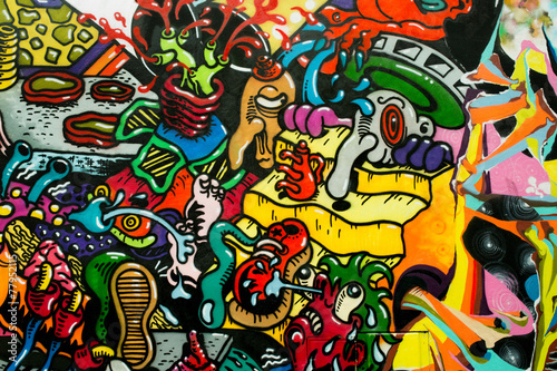 graffiti art urbain - 77952115