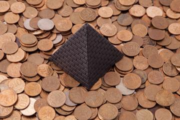 Pyramid and money