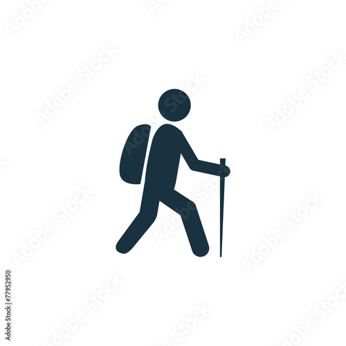 hiking icon - 77952950