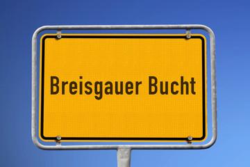 Schild Breisgauer Bucht