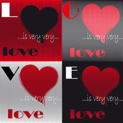 Valentines day card, Love