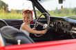 Leinwanddruck Bild - Blij kind in de auto