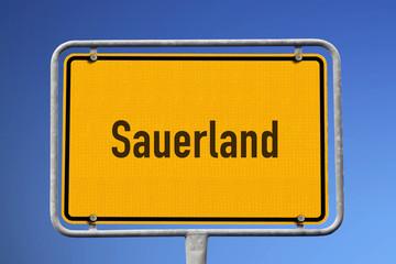 Schild Region Sauerland