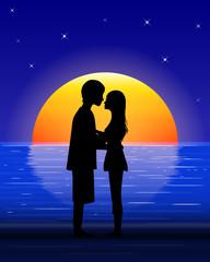 couple on sea beach