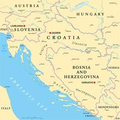 West Balkan Political Map