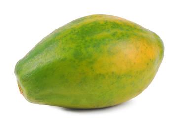 papaya fruit whole isolated on white