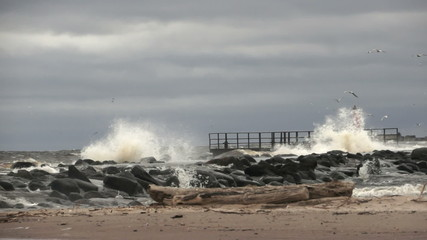 Mols in the Baltic Sea during a storm