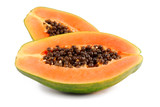 Fototapety papaya fruit  isolated on white