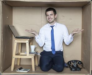 happy employee boast your office