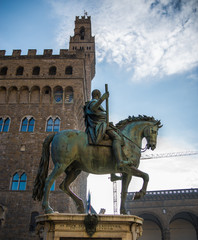 A different perspective of Piazza Signoria in Florence