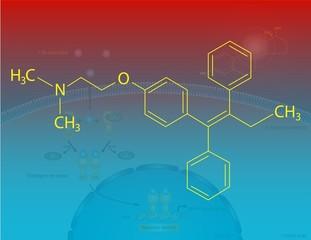 Tamoxifen molecular structure