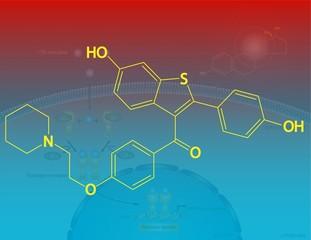 Raloxifene molecular structure