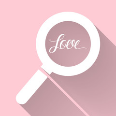 Searching for love. Love card.Vector illustration.