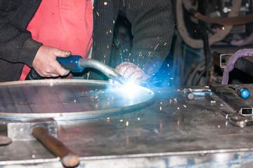 welded steel iron metal