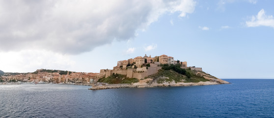 Town of Calvi from the ferry