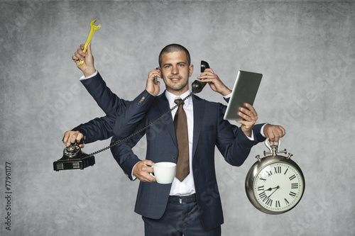 Leinwanddruck Bild multipurpose businessman