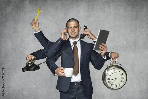 Leinwandbild Motiv multipurpose businessman