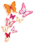 Realistic Colorful Butterflies Isolated for Spring mouse pad