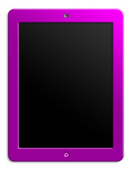 Illustration of computer tablet with blank screen