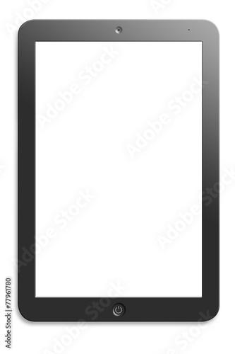 Leinwandbild Motiv Illustration of computer tablet with  blank screen